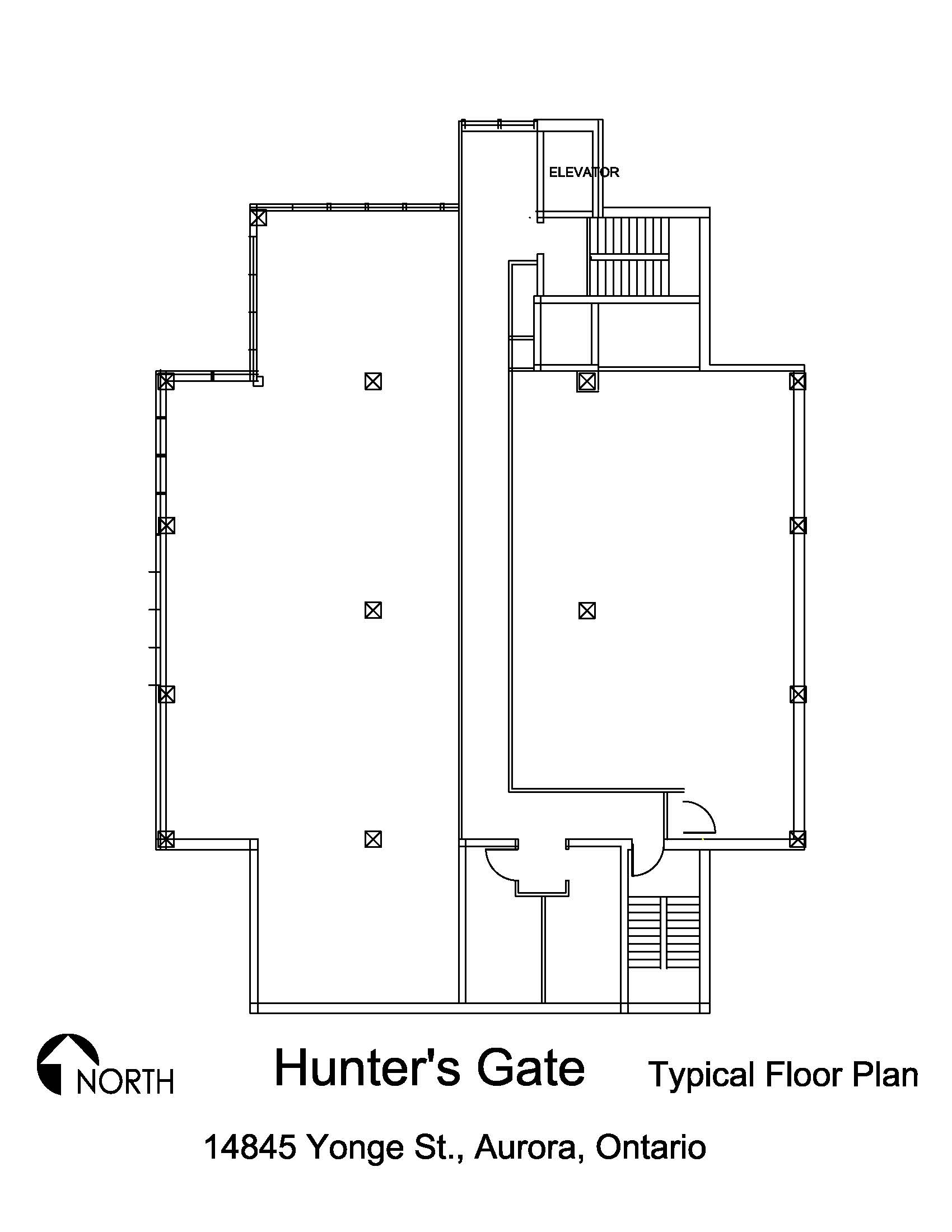 Hunter 39 s gate 14845 yonge street office armadale for Typical office floor plan